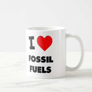 Amo los combustibles fósiles taza
