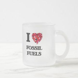 Amo los combustibles fósiles taza cristal mate