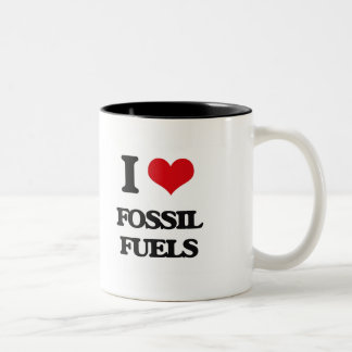 AMO los combustibles fósiles Taza Dos Tonos