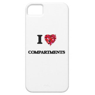 Amo los compartimientos iPhone 5 carcasa