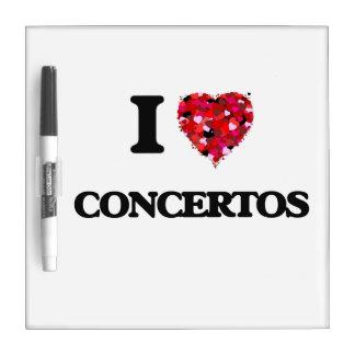 Amo los conciertos pizarra