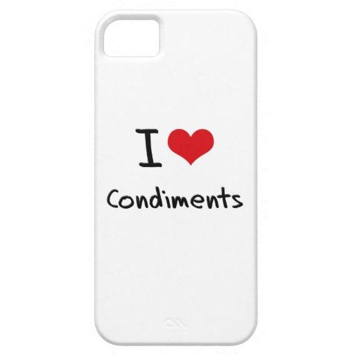 Amo los condimentos iPhone 5 Case-Mate cárcasas