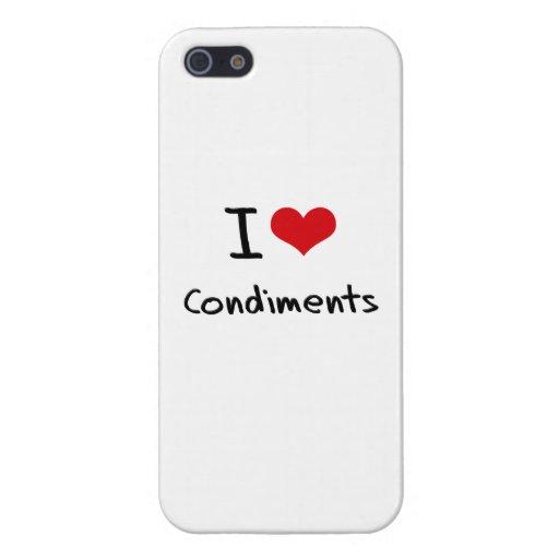 Amo los condimentos iPhone 5 protector