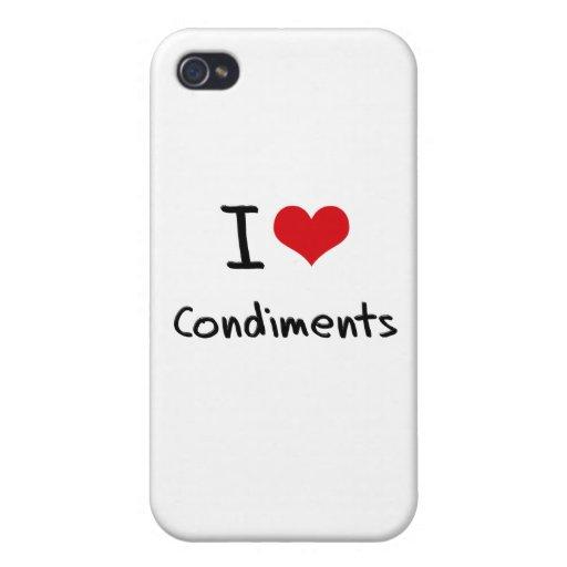 Amo los condimentos iPhone 4/4S carcasas