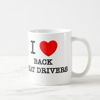 Amo los conductores de Seat trasero Taza De Café
