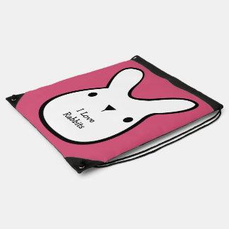 Amo los conejos (el personalizable) mochila