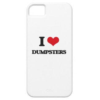 Amo los contenedores iPhone 5 funda