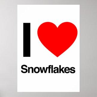 amo los copos de nieve poster