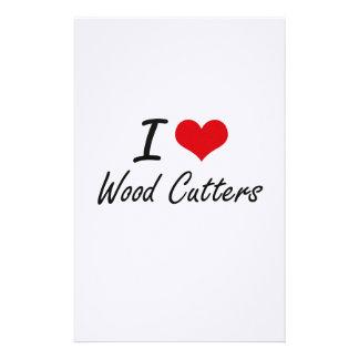 Amo los cortadores de madera papeleria
