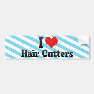 Amo los cortadores del pelo pegatina para auto