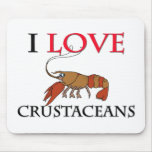 Amo los crustáceos alfombrilla de ratones