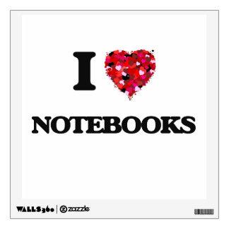 Amo los cuadernos vinilo adhesivo