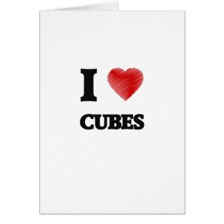 Amo los cubos tarjeta de felicitación