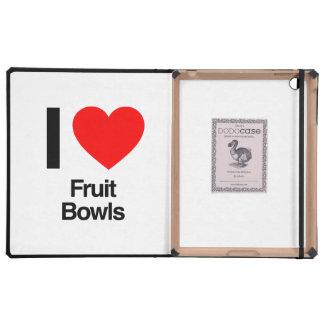 amo los cuencos de fruta iPad fundas