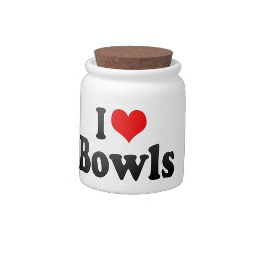 Amo los cuencos jarra para caramelo