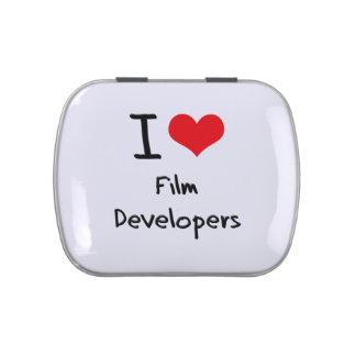 Amo los desarrolladores de la película frascos de caramelos