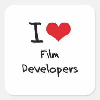 Amo los desarrolladores de la película calcomanías cuadradases