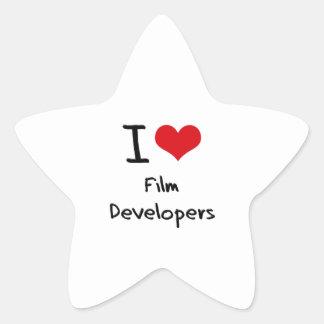 Amo los desarrolladores de la película calcomania forma de estrella personalizada