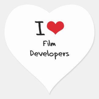 Amo los desarrolladores de la película calcomanías de corazones