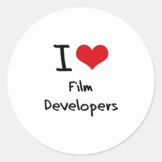 Amo los desarrolladores de la película etiqueta redonda