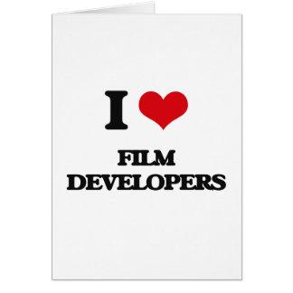 Amo los desarrolladores de la película tarjeta de felicitación