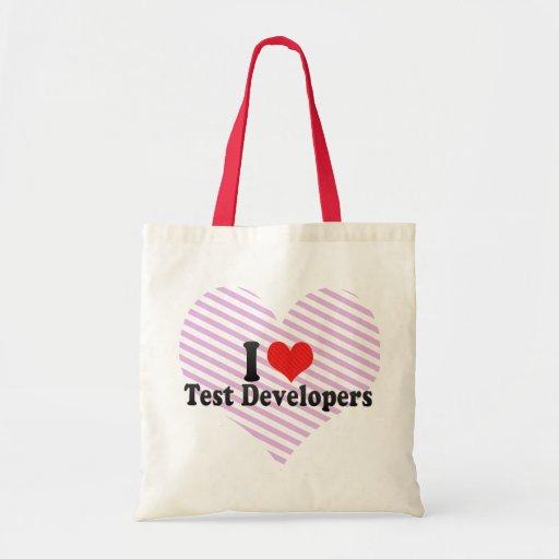 Amo los desarrolladores de la prueba bolsa tela barata