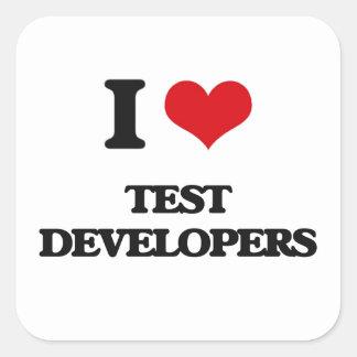 Amo los desarrolladores de la prueba pegatina cuadrada