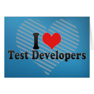 Amo los desarrolladores de la prueba tarjetón