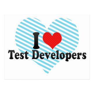 Amo los desarrolladores de la prueba tarjetas postales