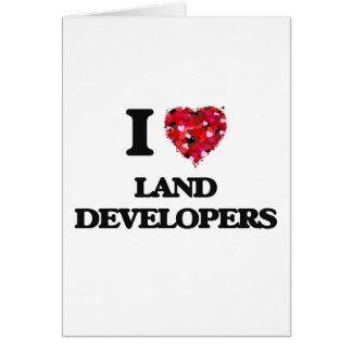 Amo los desarrolladores de la tierra tarjeta de felicitación