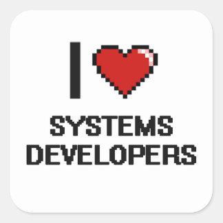 Amo los desarrolladores de los sistemas pegatina cuadrada