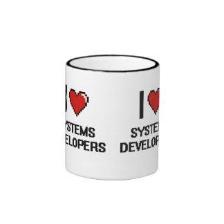 Amo los desarrolladores de los sistemas taza a dos colores