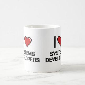 Amo los desarrolladores de los sistemas taza básica blanca