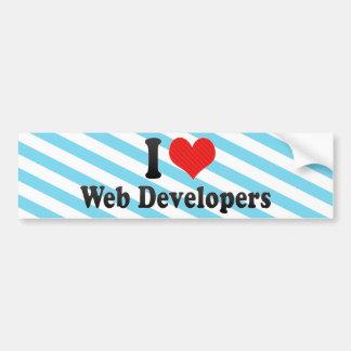 Amo los desarrolladores de Web Pegatina De Parachoque