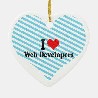 Amo los desarrolladores de Web Adorno De Cerámica En Forma De Corazón