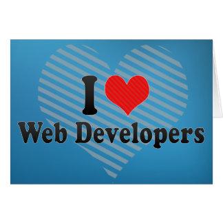 Amo los desarrolladores de Web Felicitaciones