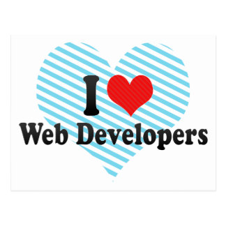 Amo los desarrolladores de Web Tarjeta Postal