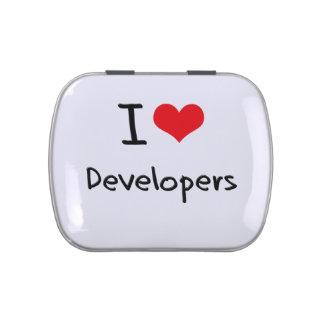 Amo los desarrolladores jarrones de caramelos