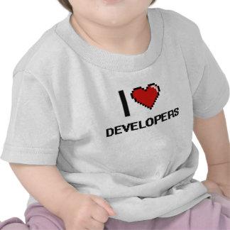 Amo los desarrolladores camiseta