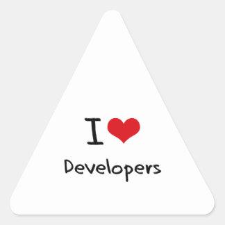 Amo los desarrolladores colcomanias triangulo personalizadas