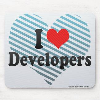Amo los desarrolladores tapete de ratón