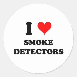 Amo los detectores de humo pegatina redonda