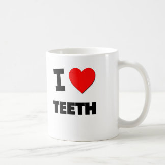 Amo los dientes taza de café