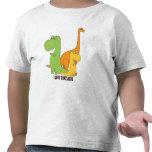 Amo los dinosaurios - trío de la camiseta linda de