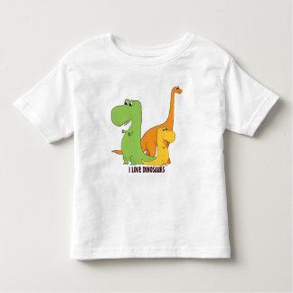 Amo los dinosaurios - trío de la camiseta linda de playeras