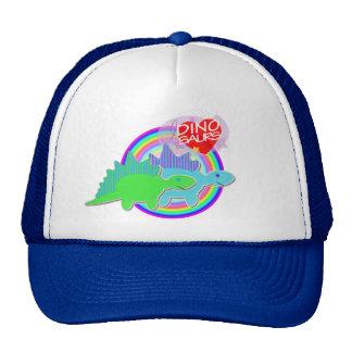 Amo los dinosaurios verdes y el casquillo azul del gorro de camionero