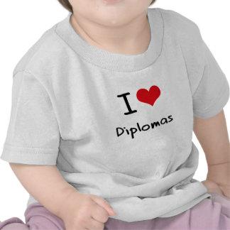 Amo los diplomas camiseta
