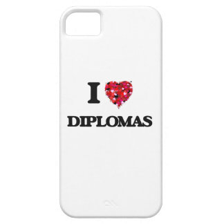 Amo los diplomas iPhone 5 carcasa