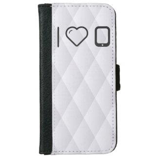 Amo los dispositivos de la PDA Funda Cartera Para iPhone 6