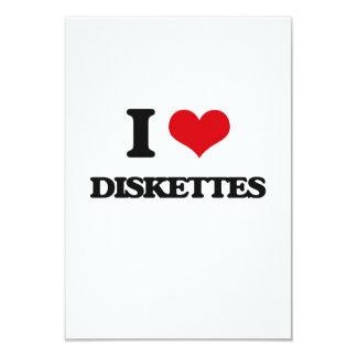 Amo los disquetes invitación 8,9 x 12,7 cm